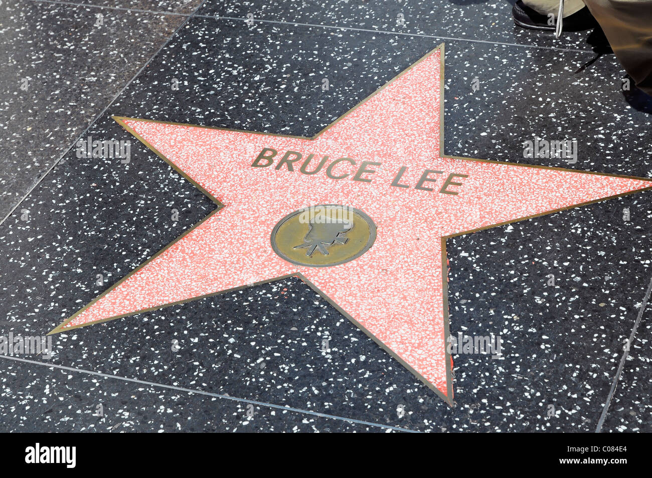 walk of fame bruce lee hollywood boulevard los angeles stock photo 34599884 alamy. Black Bedroom Furniture Sets. Home Design Ideas