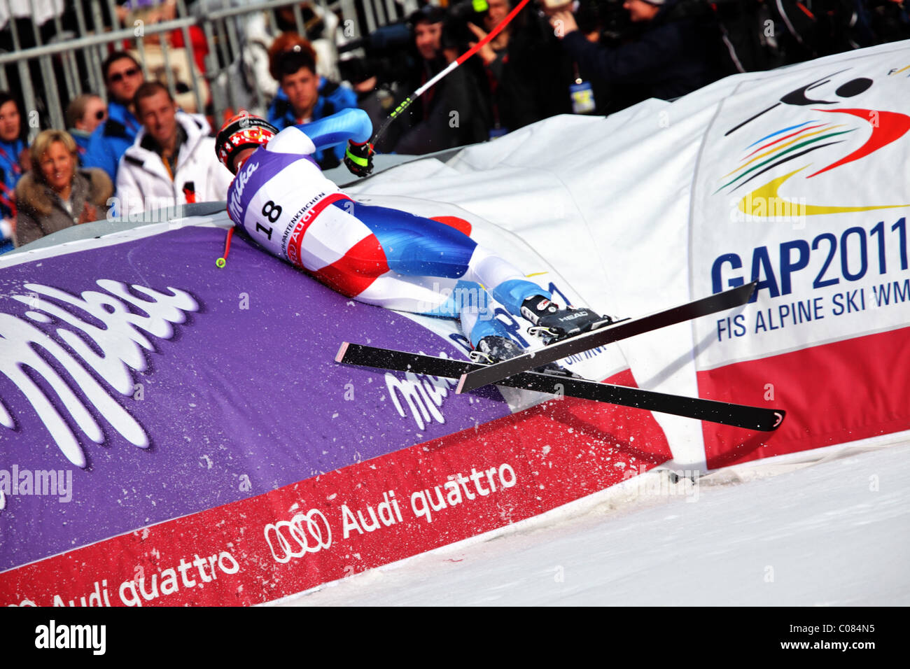 Didier Cuche (SUI) at the FIS Alpine World Ski Championships 2011 - Stock Image