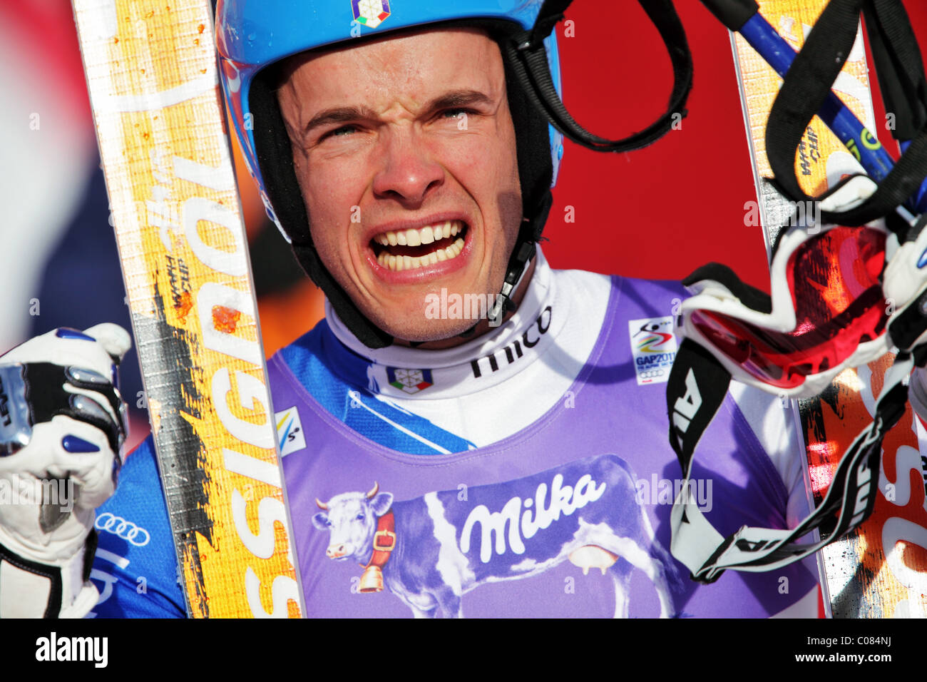 Christof Innerhofer (ITA) at the FIS Alpine World Ski Championships 2011 in Garmisch-Partenkirchen - Stock Image