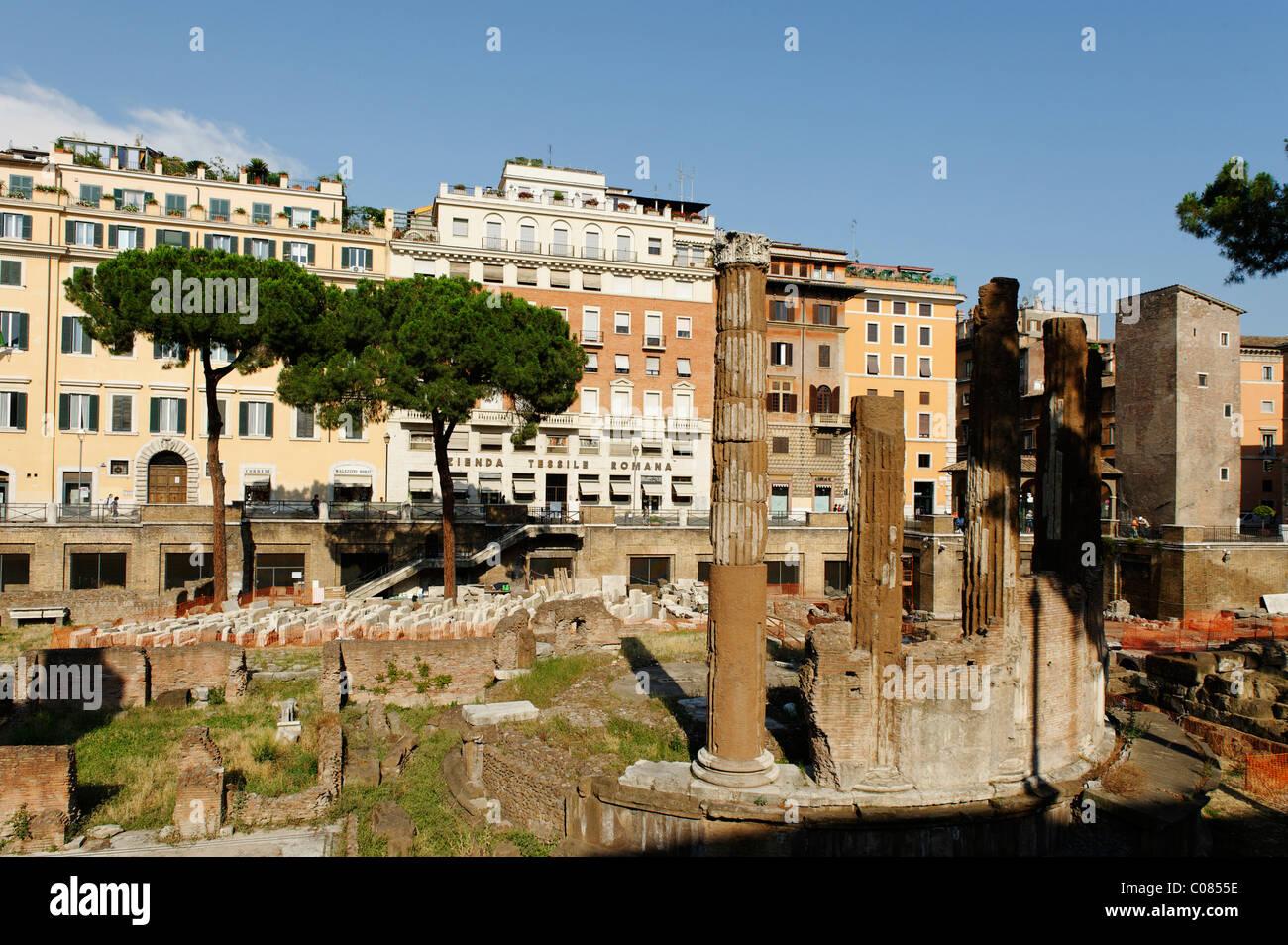 Area Sacra di Largo Argentina, Pigna, Rome, Italy, Europe - Stock Image