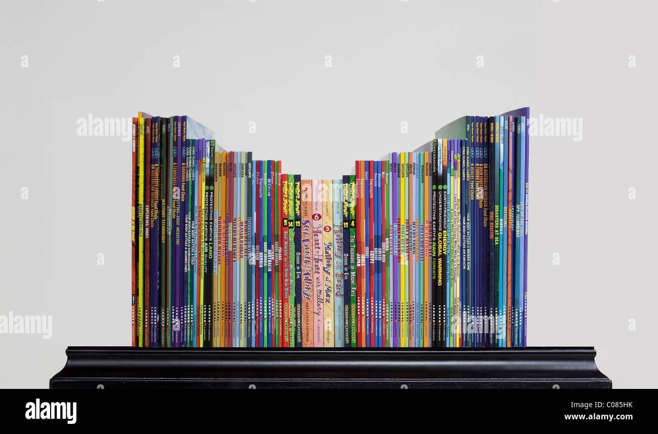 Bookshelf - Stock Image