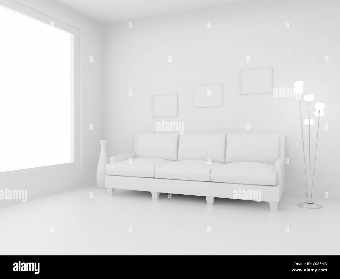 3d Render Home Interior High Resolution Image Apartments In A