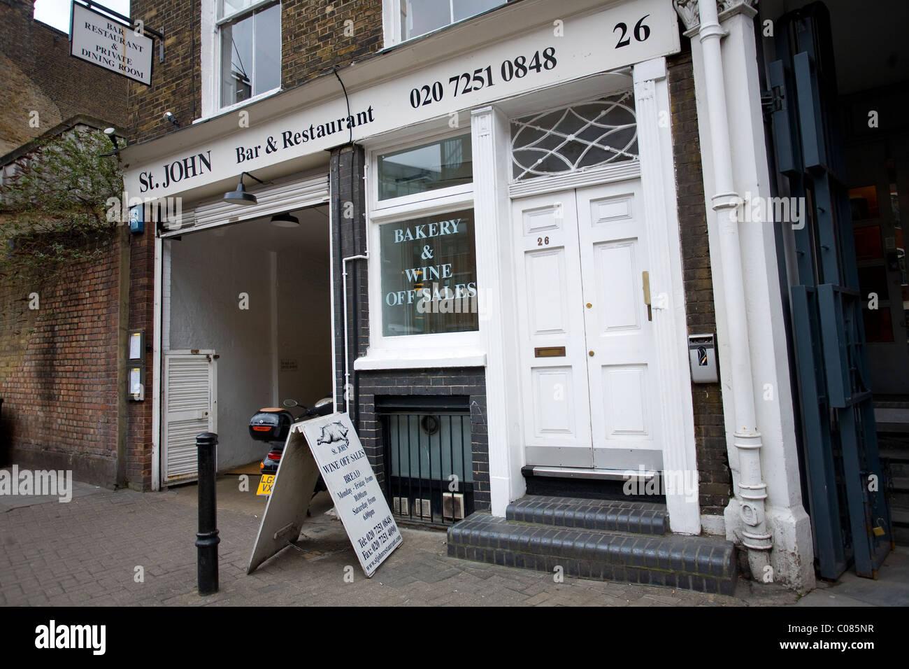 St. John Bar and Restaurant Smithfield London. Photo:Jeff Gilbert - Stock Image
