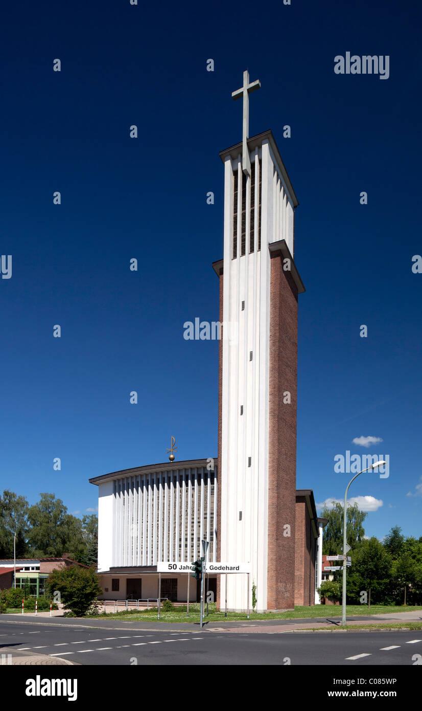 St.-Godehard-Kirche church, Goettingen, Lower Saxony, Germany, Europe - Stock Image