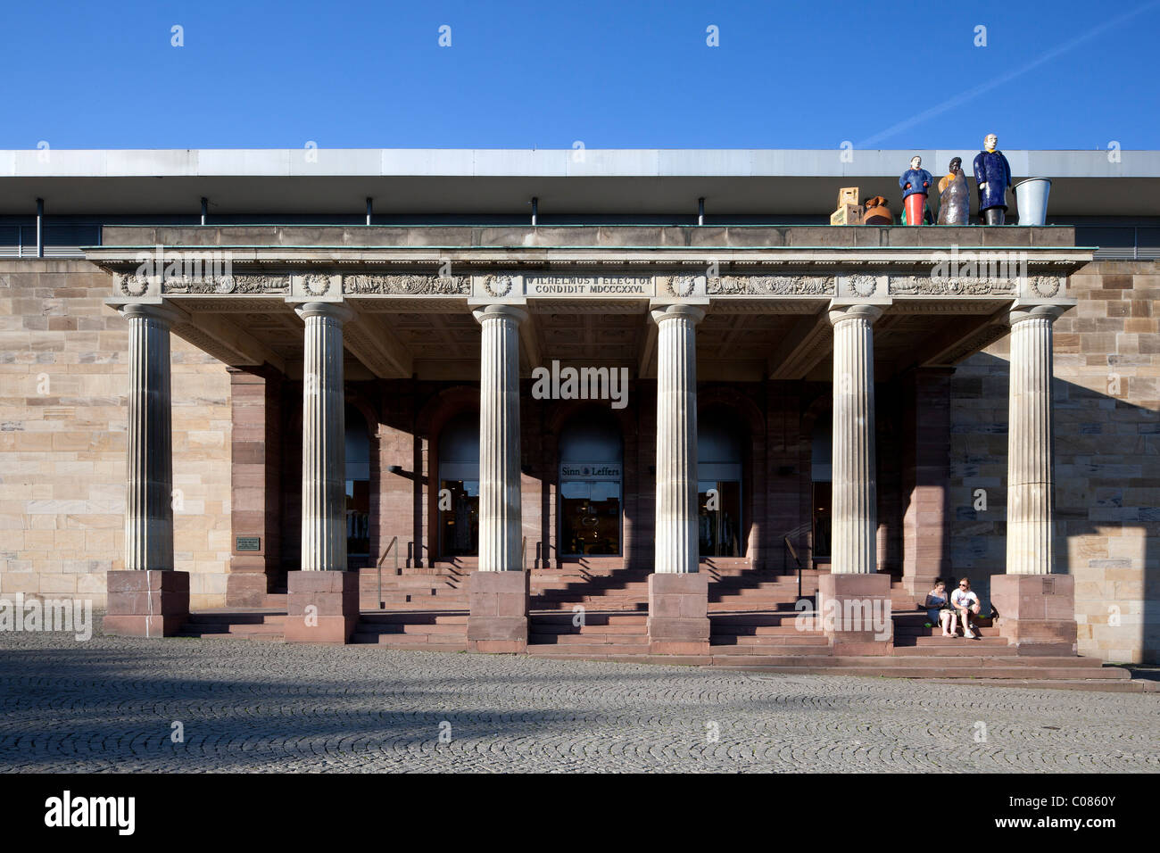 Portico of the former imperial palace, Museum Fridericianum, Kassel, Hesse, Germany, Europe - Stock Image
