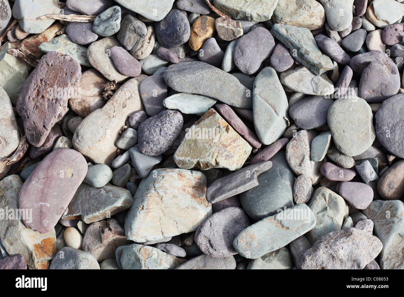 Pebbles on the beach, Dingle Peninsula, County Kerry, Ireland, British Isles, Europe Stock Photo