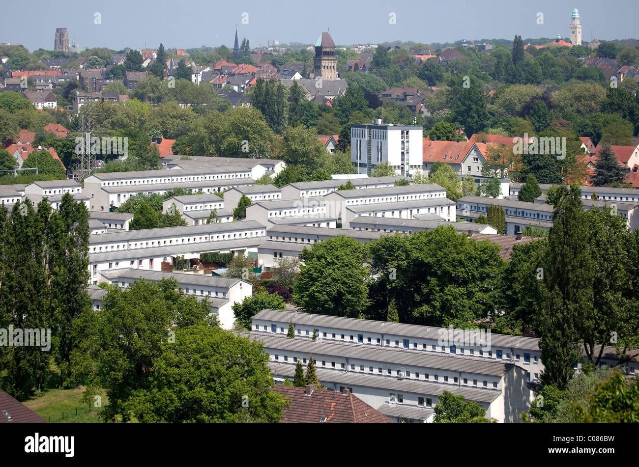 Siedlung Schuengelberg company town, International Building Exhibition Emscher Park, Gelsenkirchen, Ruhrgebiet region - Stock Image