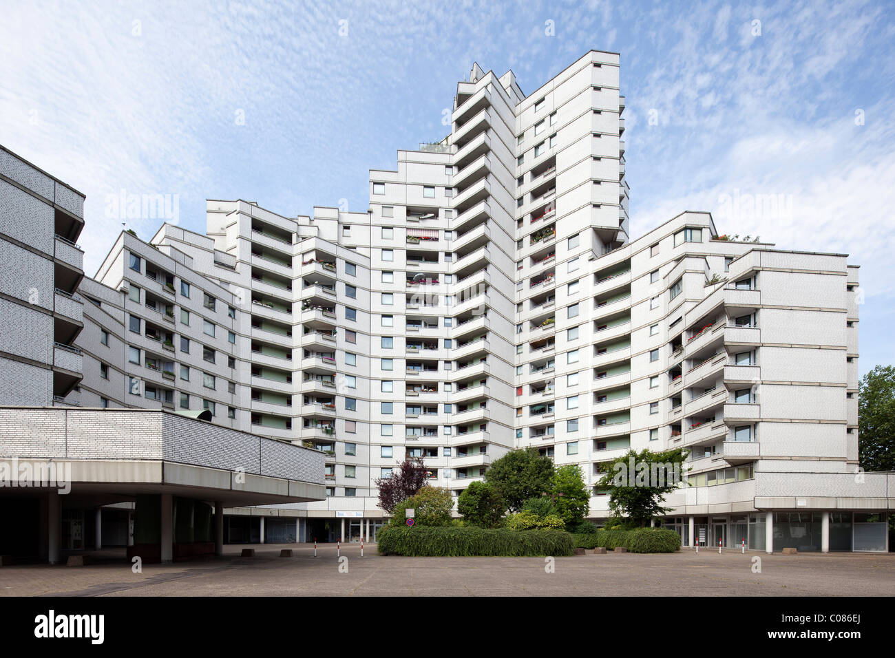 Residential tower, Gelsenkirchen, Ruhr Area, North Rhine-Westphalia, Germany, Europe - Stock Image