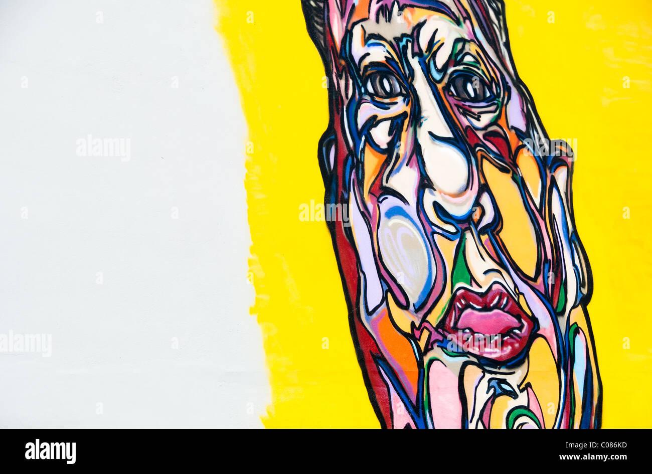 Face In Wall Graffiti Artwork Stock Photos & Face In Wall Graffiti ...