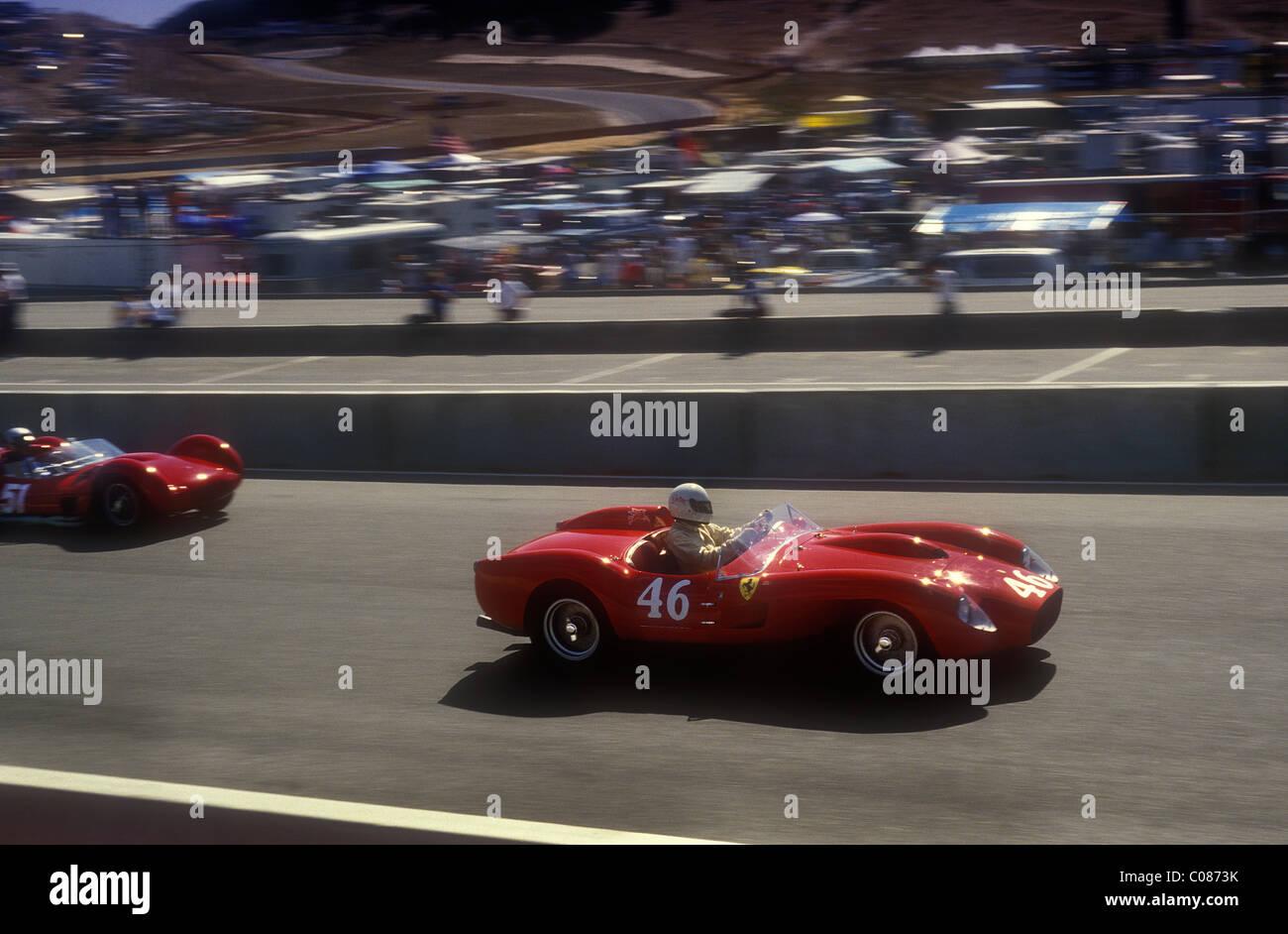 Ferrari Testa Rossa 1950\'s sports racing car at Monterey Historic ...