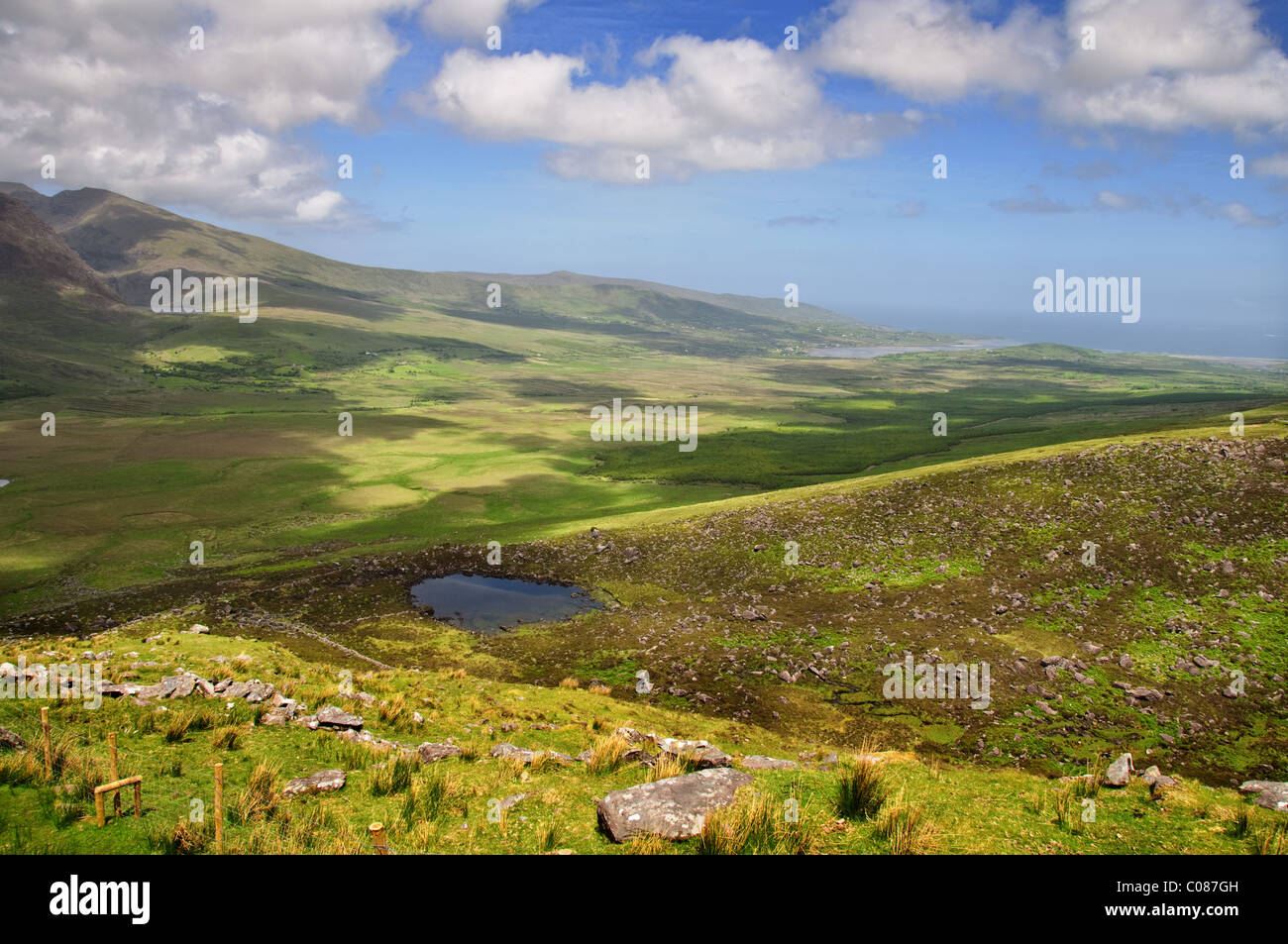 famous irish national park in ring of kerry ireland - Stock Image