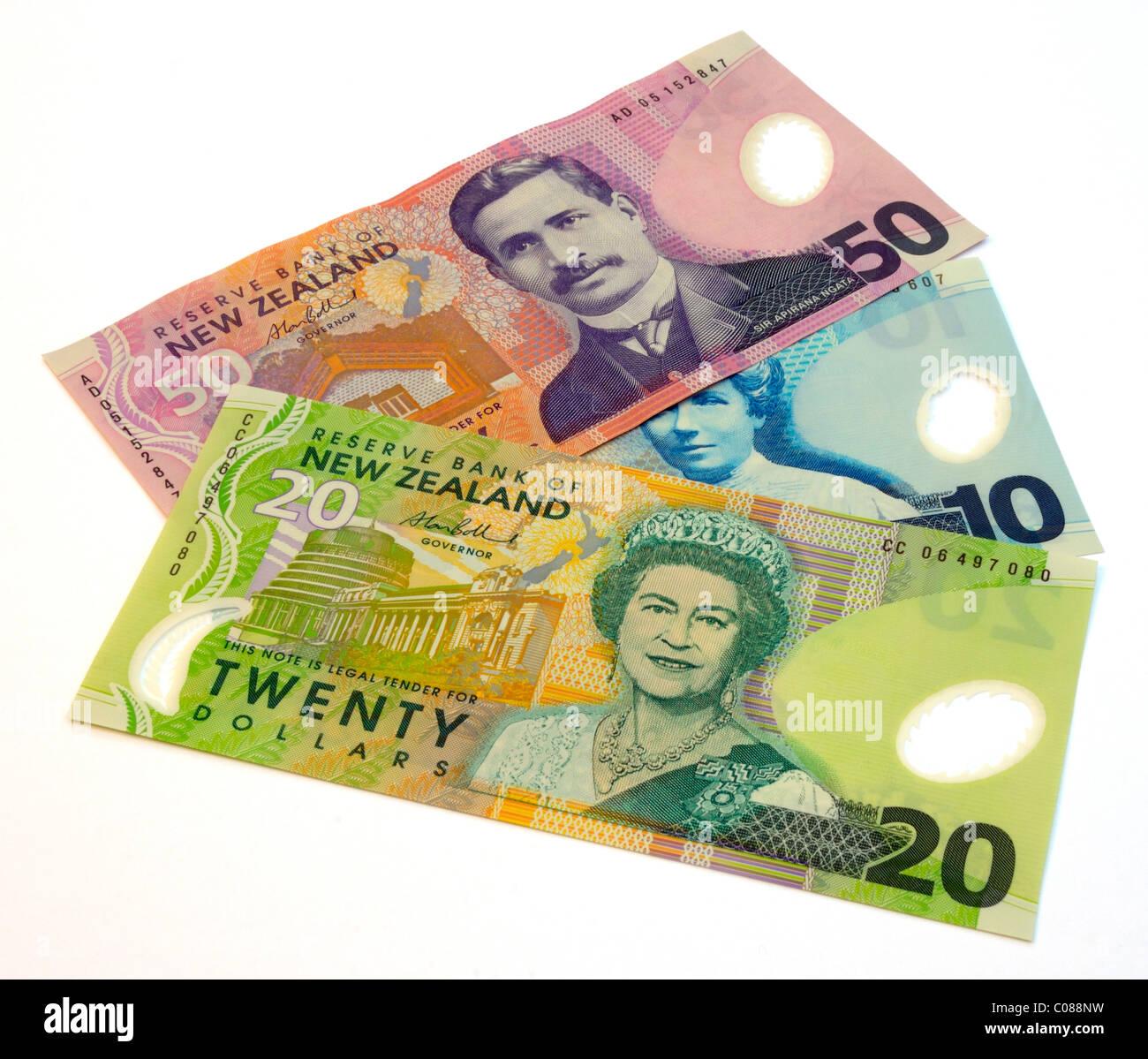 New Zealand Dollar Bank Notes. - Stock Image