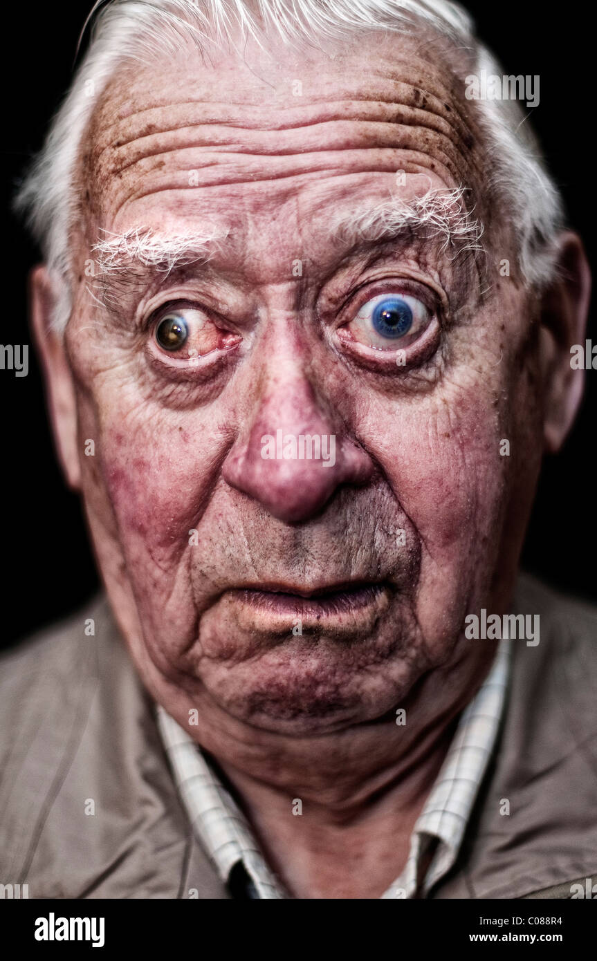 3a49124aecee Portrait of an old man pulling a face Stock Photo  34603272 - Alamy