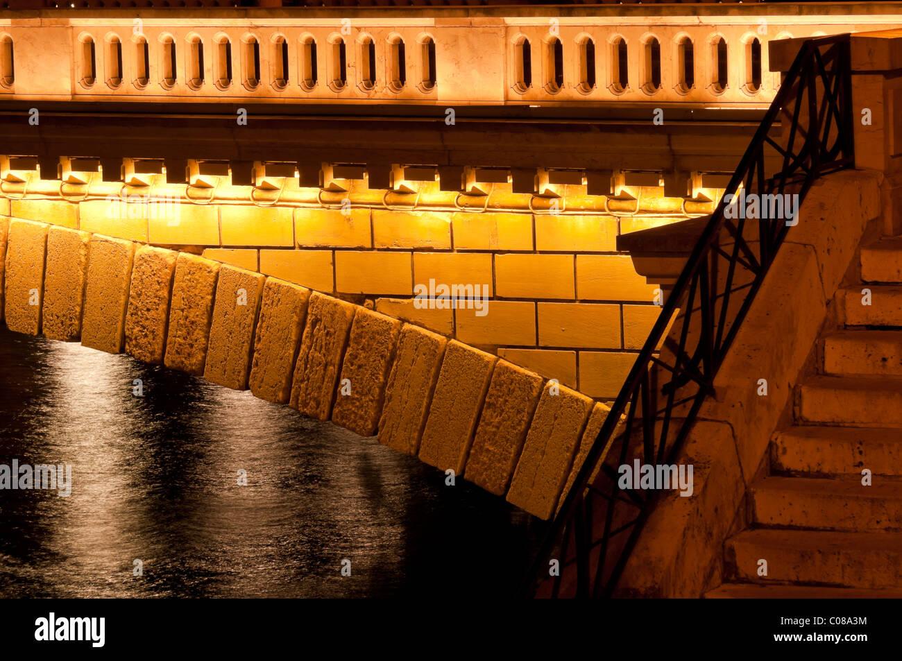 louis philippe bridge ile saint louis paris france stock photo