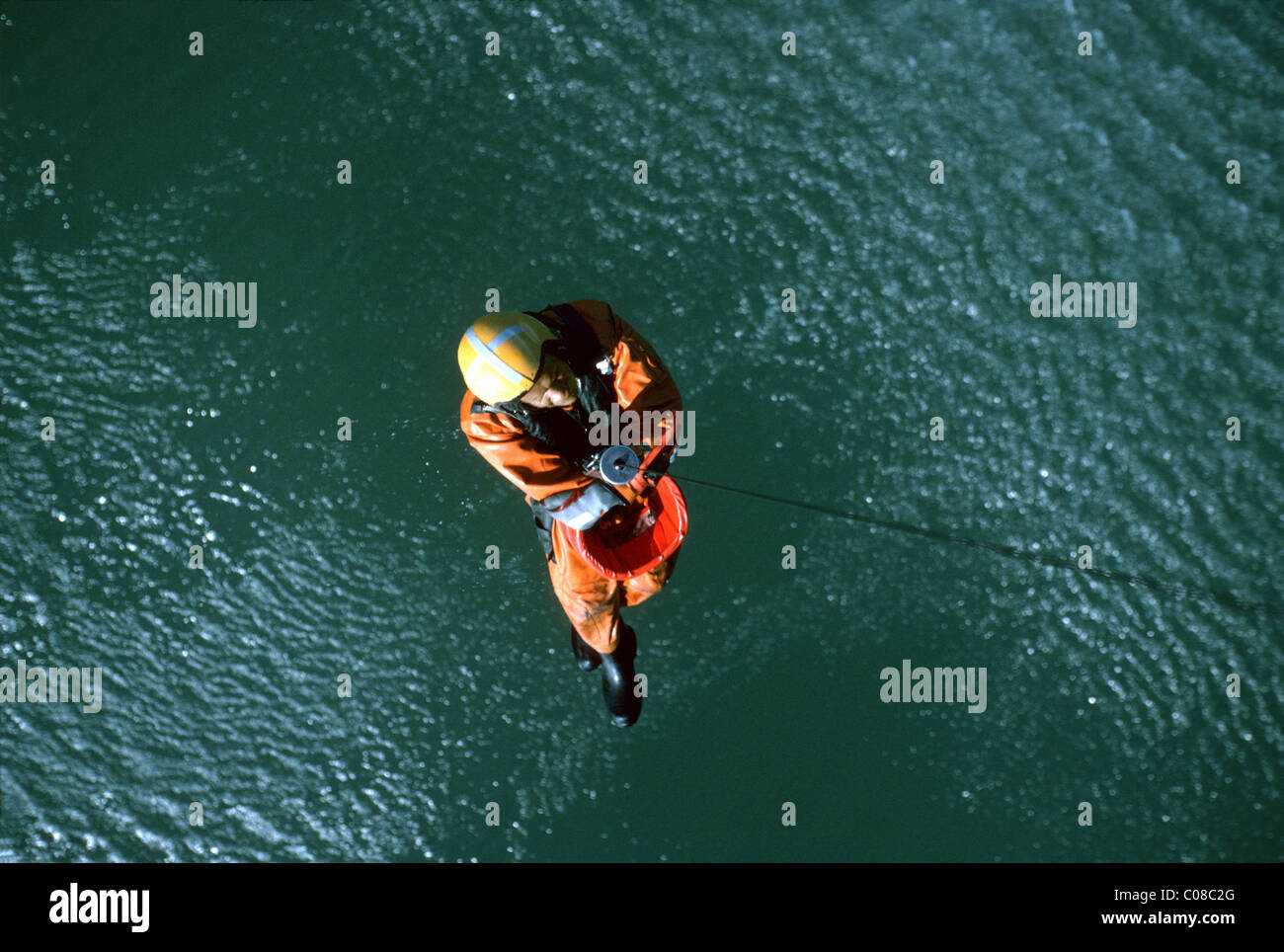 Search and rescue winchman - Stock Image