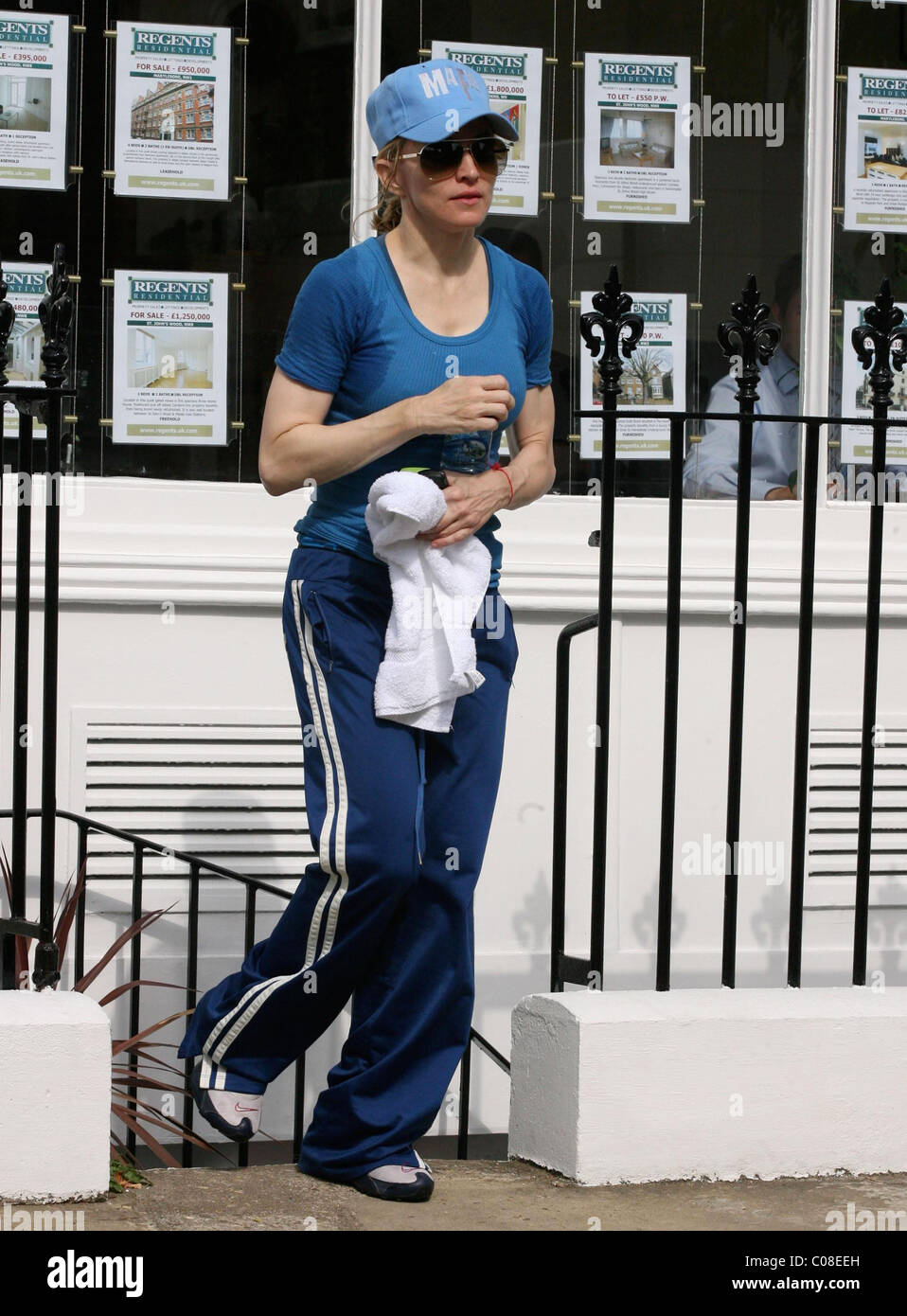 Madonna Leaving The Gym After What Looks Like An Intense Workout At Her Pilates Class Judging By Sweat Patches Around
