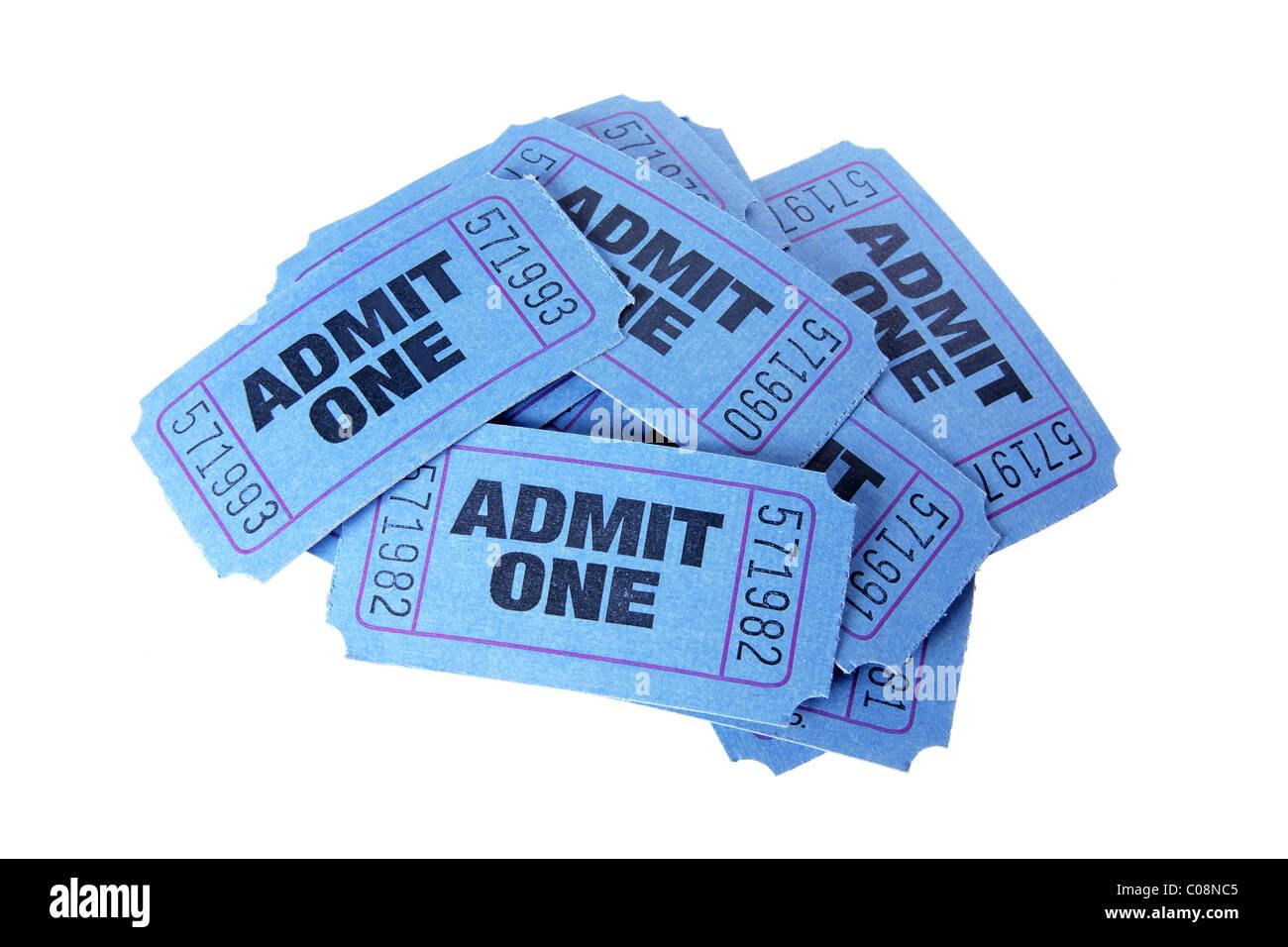Movie Tickets - Stock Image