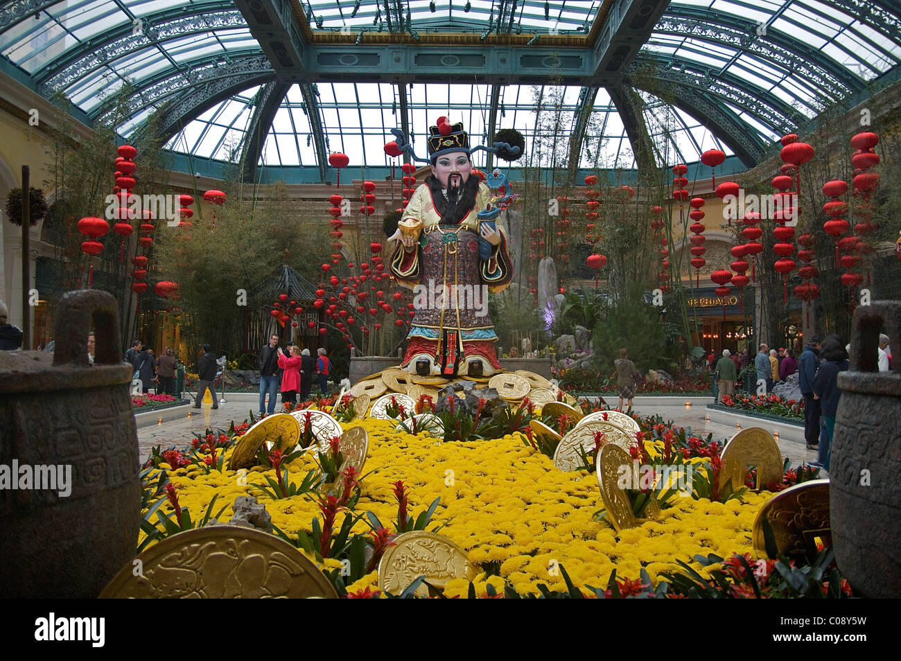 Chinese New Year display at the Bellagio Conservatory and Botanical ...