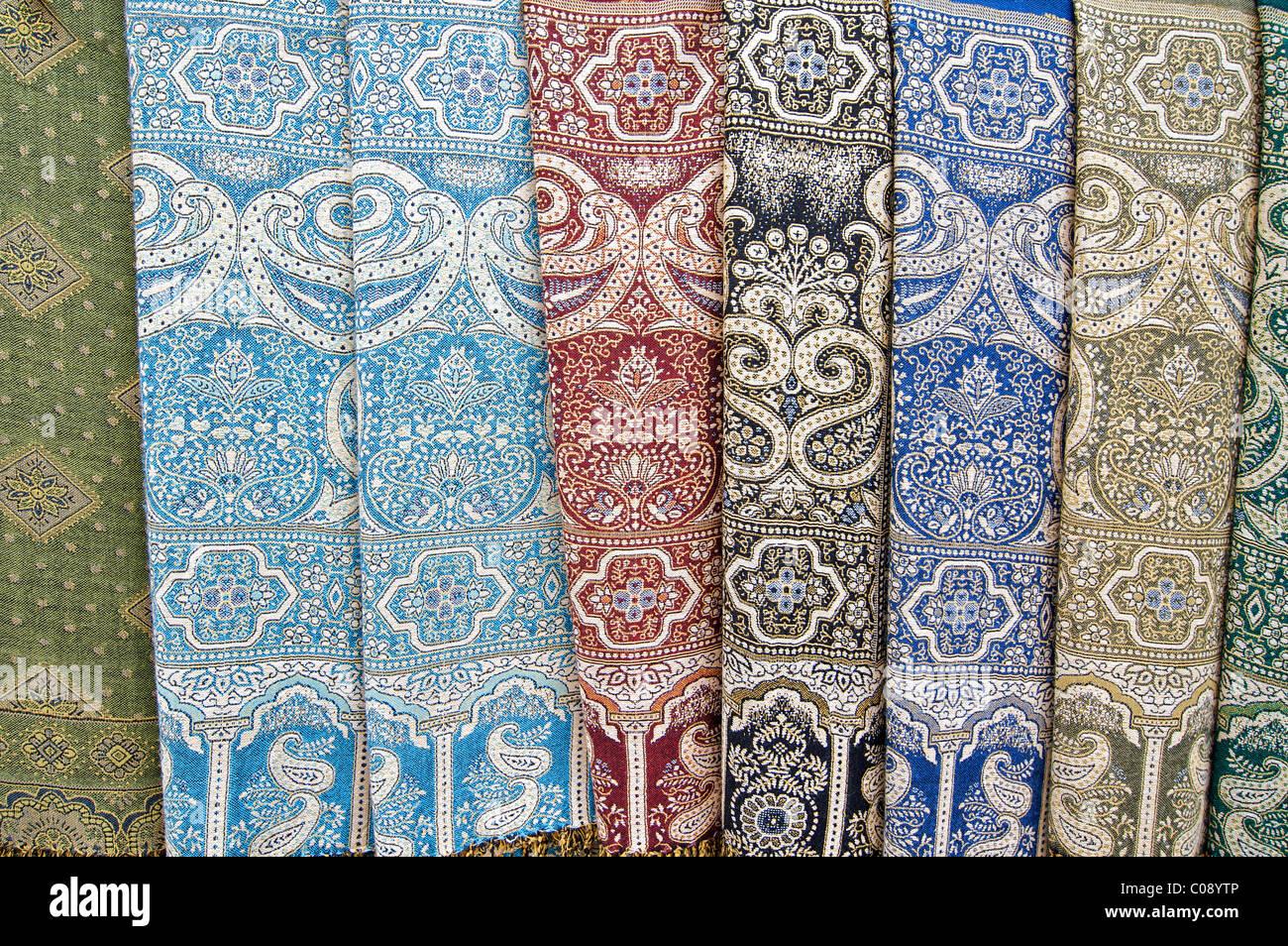 Woven fabric, Bukhara, Uzbekistan - Stock Image