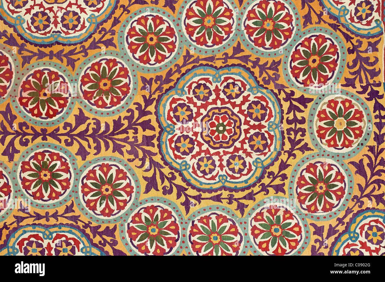 Suzani. Silk embroidered textile from Uzbekistan Stock Photo