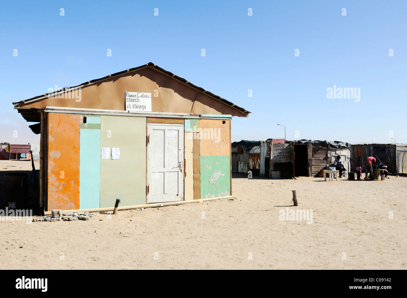 Catholic church in the Mondesa township, Swakopmund town, Namibia, Africa - Stock Image