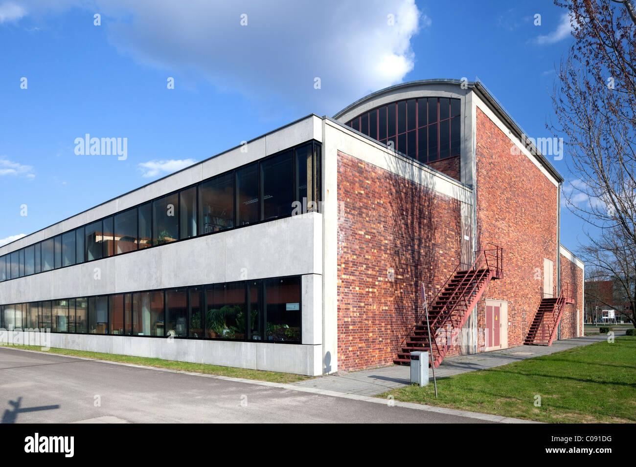 Hangar of the former Johannisthal airfield, Humboldt-University, Adlershof Science City, Berlin, Germany, Europe Stock Photo