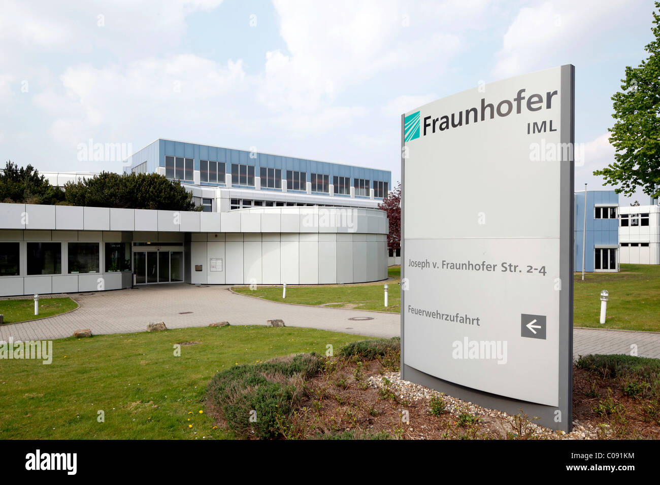 Fraunhofer Institute for Material Flow and Logistics, Dortmund Technology Park, Dortmund, Ruhr Area, North Rhine - Stock Image