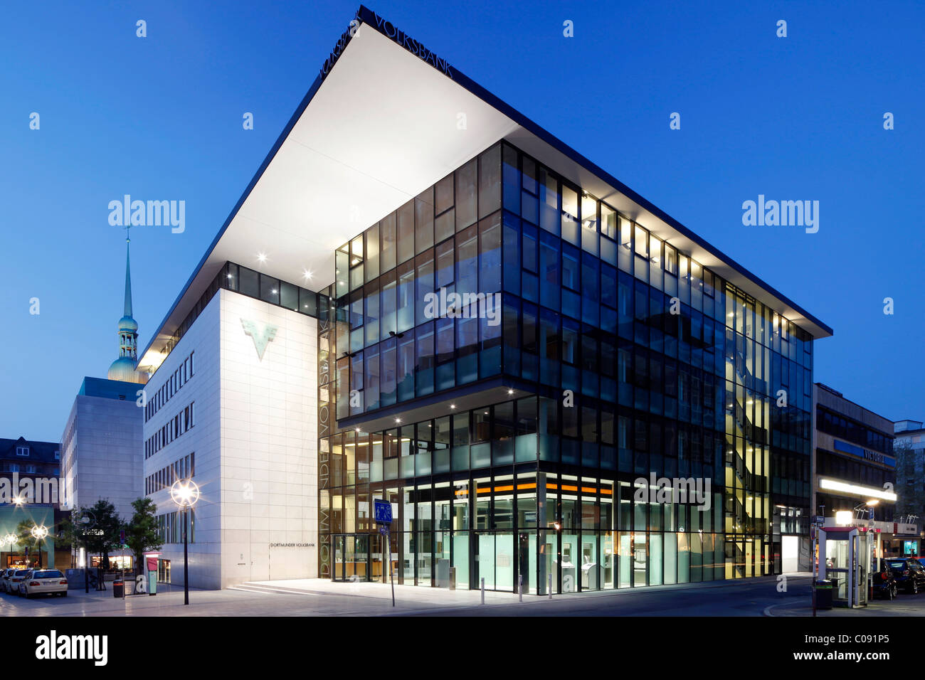 Volksbank Dortmund, Dortmund, Ruhr Area, North Rhine-Westphalia, Germany, Europe - Stock Image