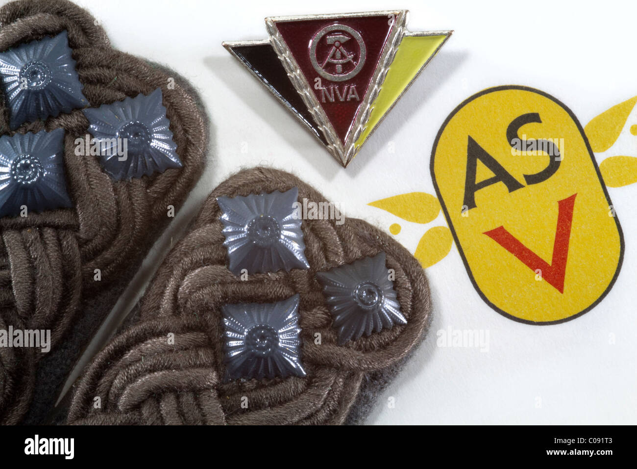 DDR: Army Sports Club forward and National People's Army (NVA) - Stock Image