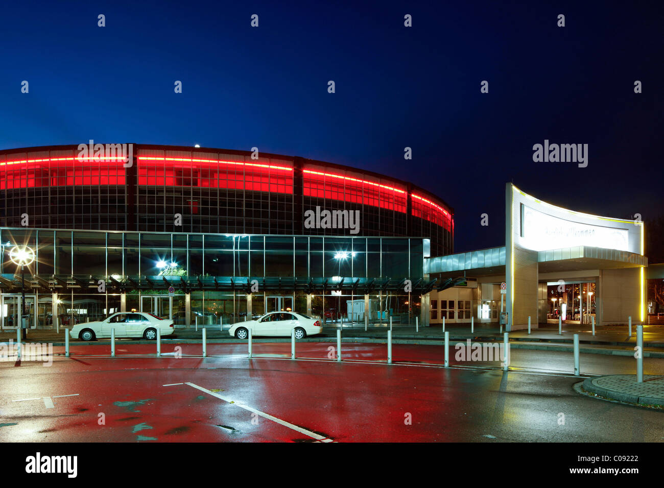 Congress Centre Westfalenhallen and Westfalenhalle Hall 1, Dortmund, Ruhrgebiet region, North Rhine-Westphalia, - Stock Image
