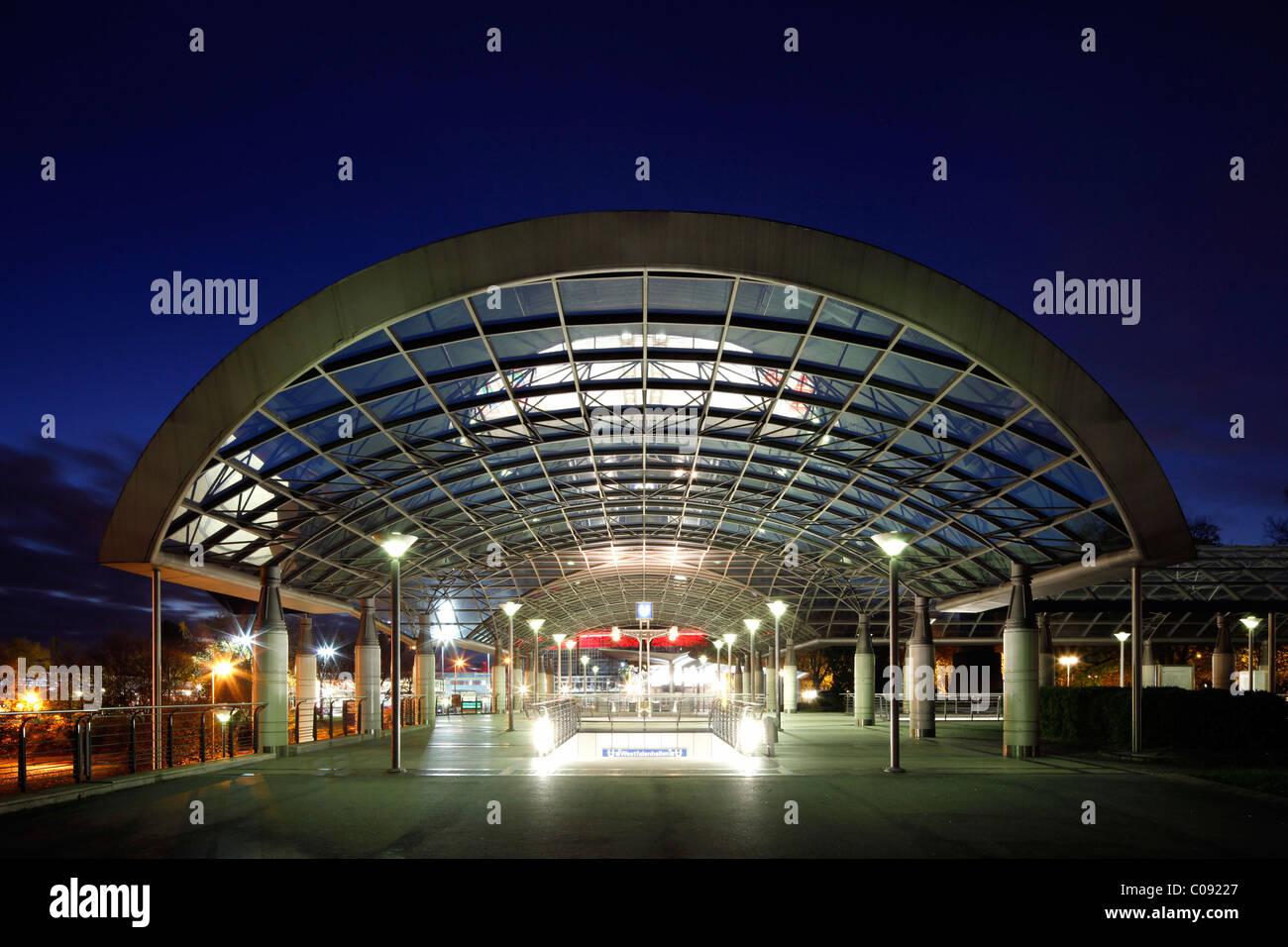 City railway station Westfalenhallen, Dortmund, Ruhrgebiet region, North Rhine-Westphalia, Germany, Europe - Stock Image