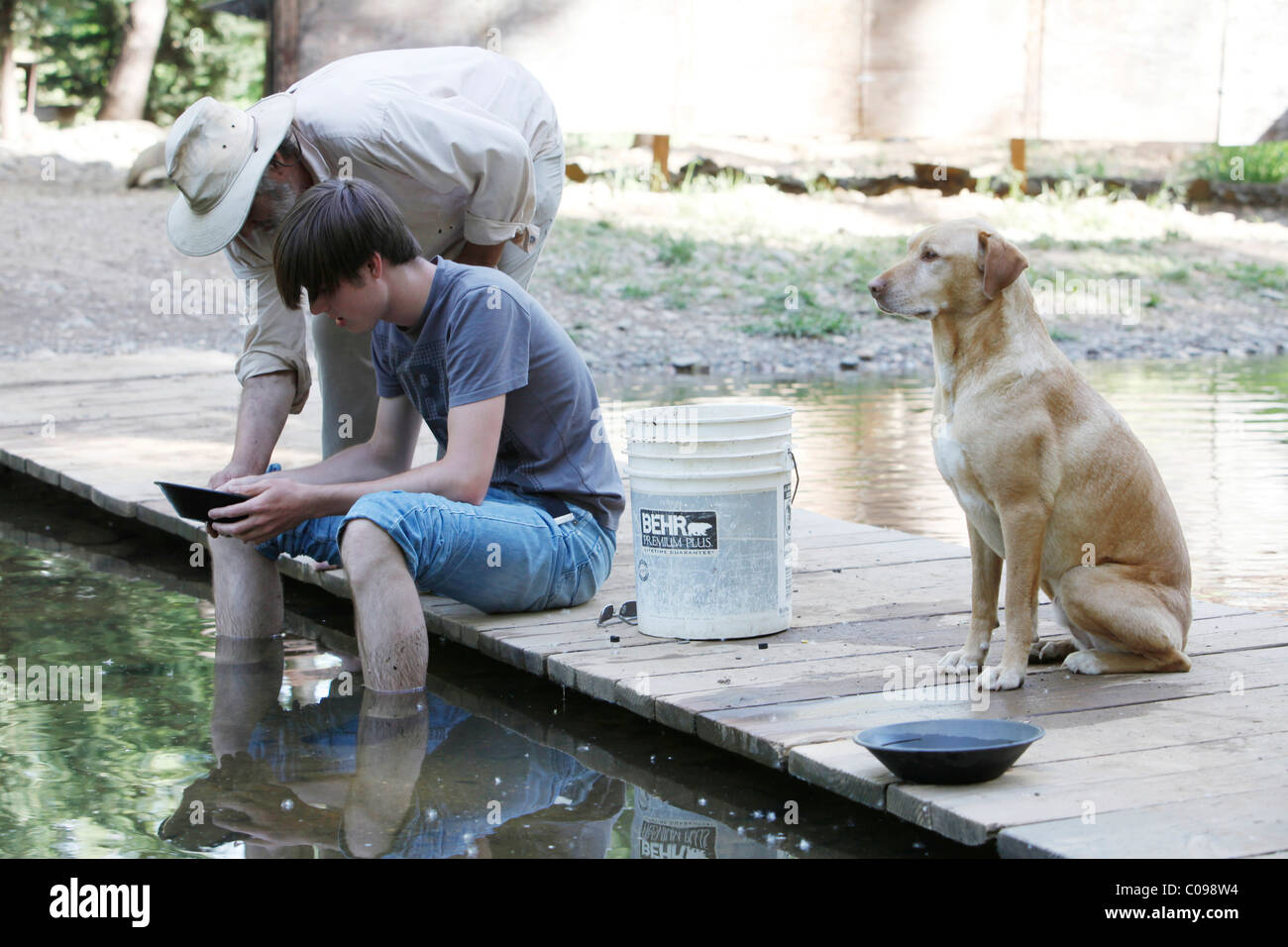 Gold prospector in Jamestown, California, USA - Stock Image
