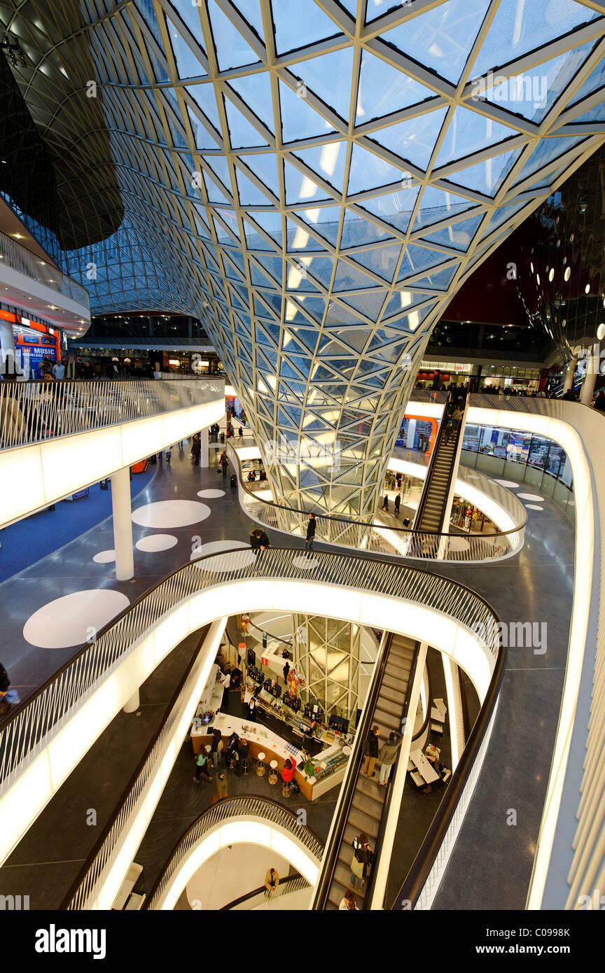 MyZeil shopping mall, Palais Quartier, architect Massimiliano Fuksas, Frankfurt am Main, Hesse, Germany, Europe - Stock Image