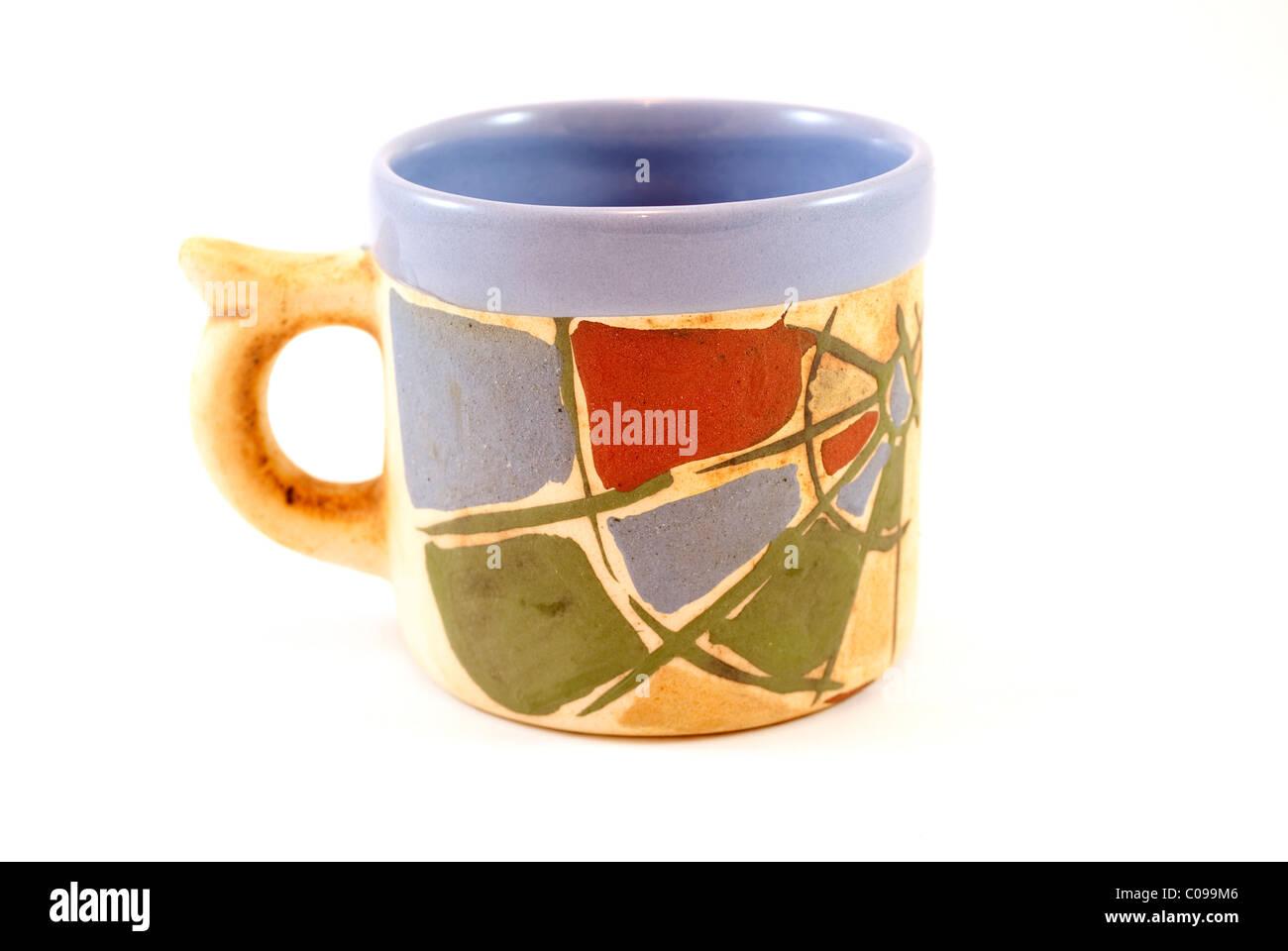 handmade ceramic cup - Stock Image