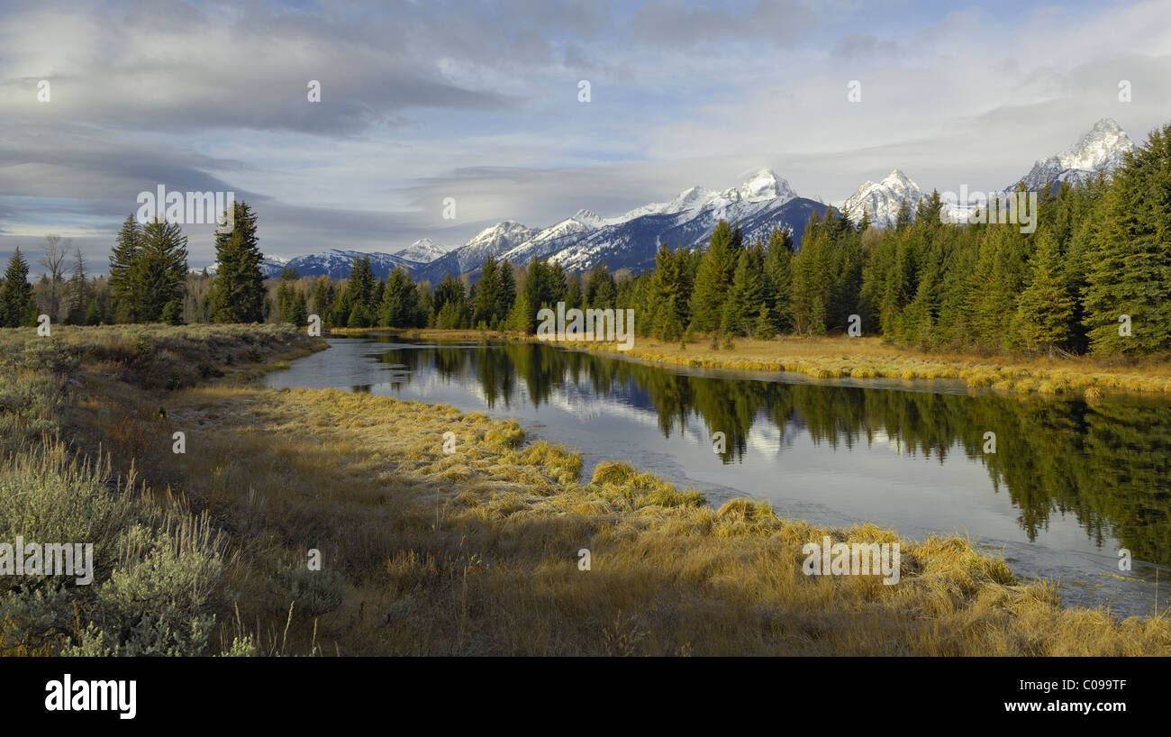Grand Teton panoramic - Stock Image