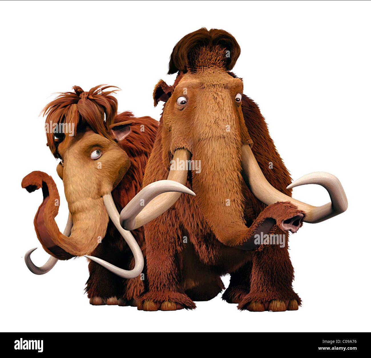 ELLIE & MANNY ICE AGE: DAWN OF THE DINOSAURS; ICE AGE 3 (2009) - Stock Image
