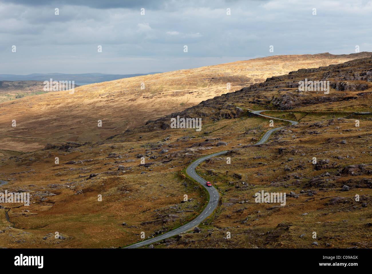 Healy Pass, Beara Peninsula, County Cork, Ireland, British Isles, Europe - Stock Image