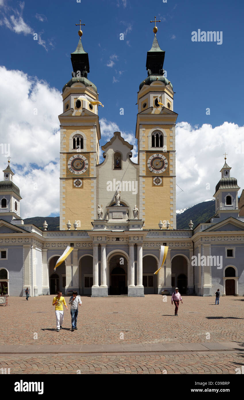 Dom Mariae Aufnahme in den Himmel und St. Kassian zu Brixen cathedral, old town, Brixen, South Tyrol, Italy, Europe Stock Photo
