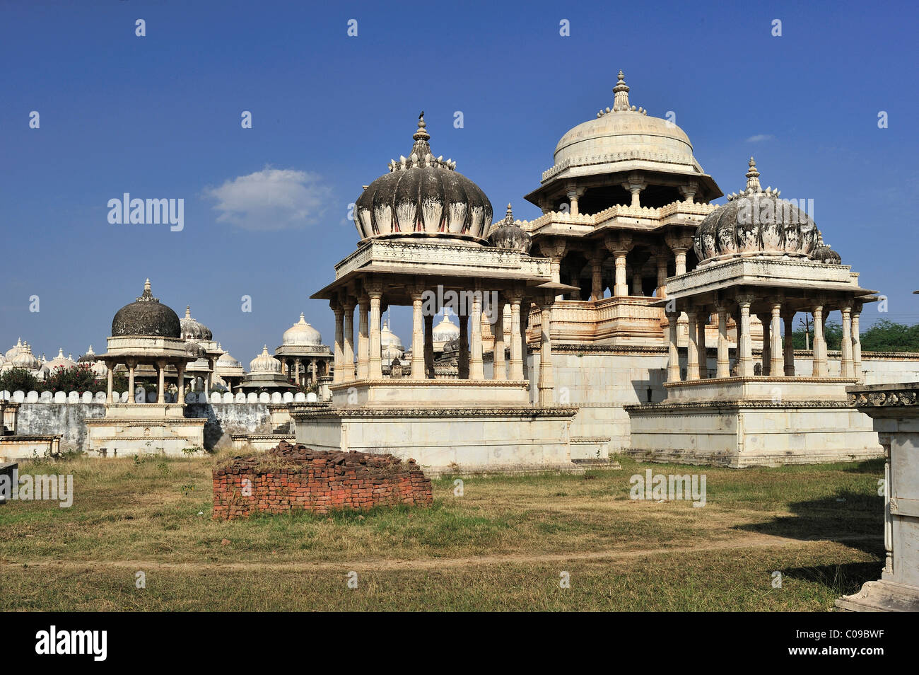 Ahar, cenotaphs, tombs, of the royal Mewar family, Udaipur, Rajasthan, India, Asia - Stock Image