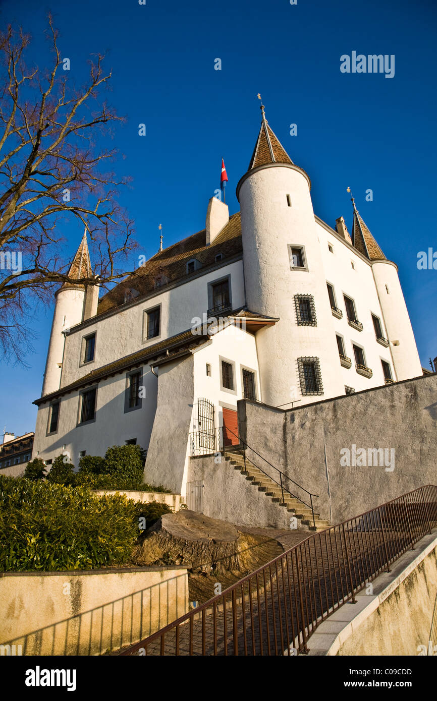 The Chateau of Nyon in Switzerland - Stock Image