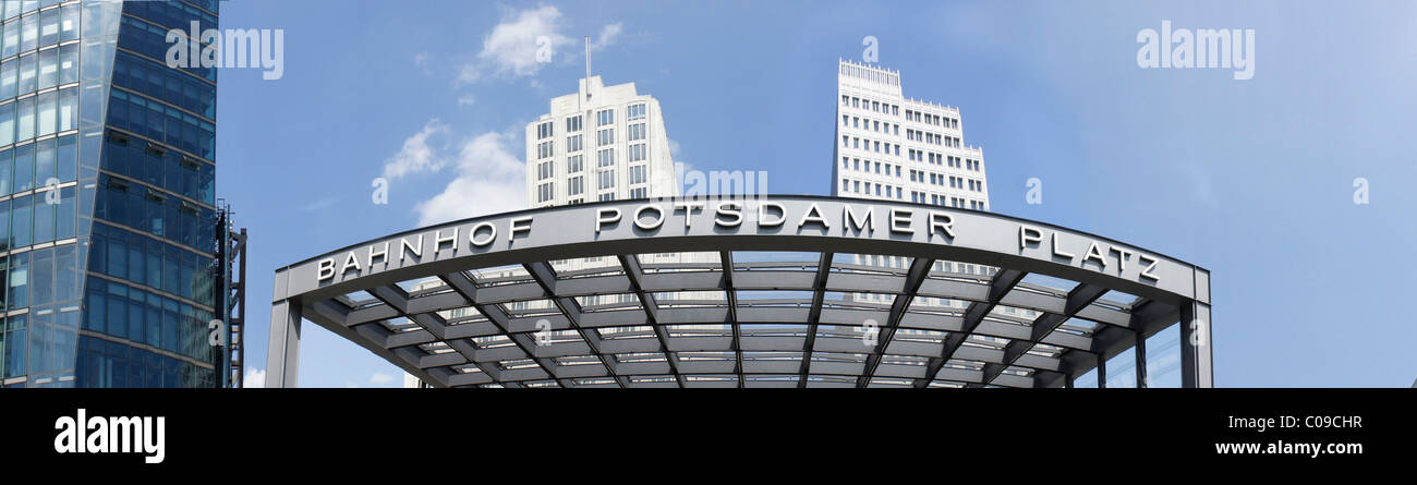 Tram and train station Potsdamer Platz, Berlin, Germany, Europe - Stock Image
