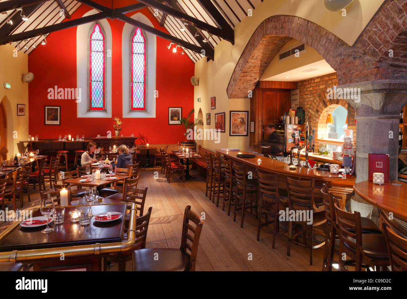 Sol y Sombra restaurant in a former church, Killorglin, Ring of Kerry, County Kerry, Ireland, British Isles, Europe - Stock Image