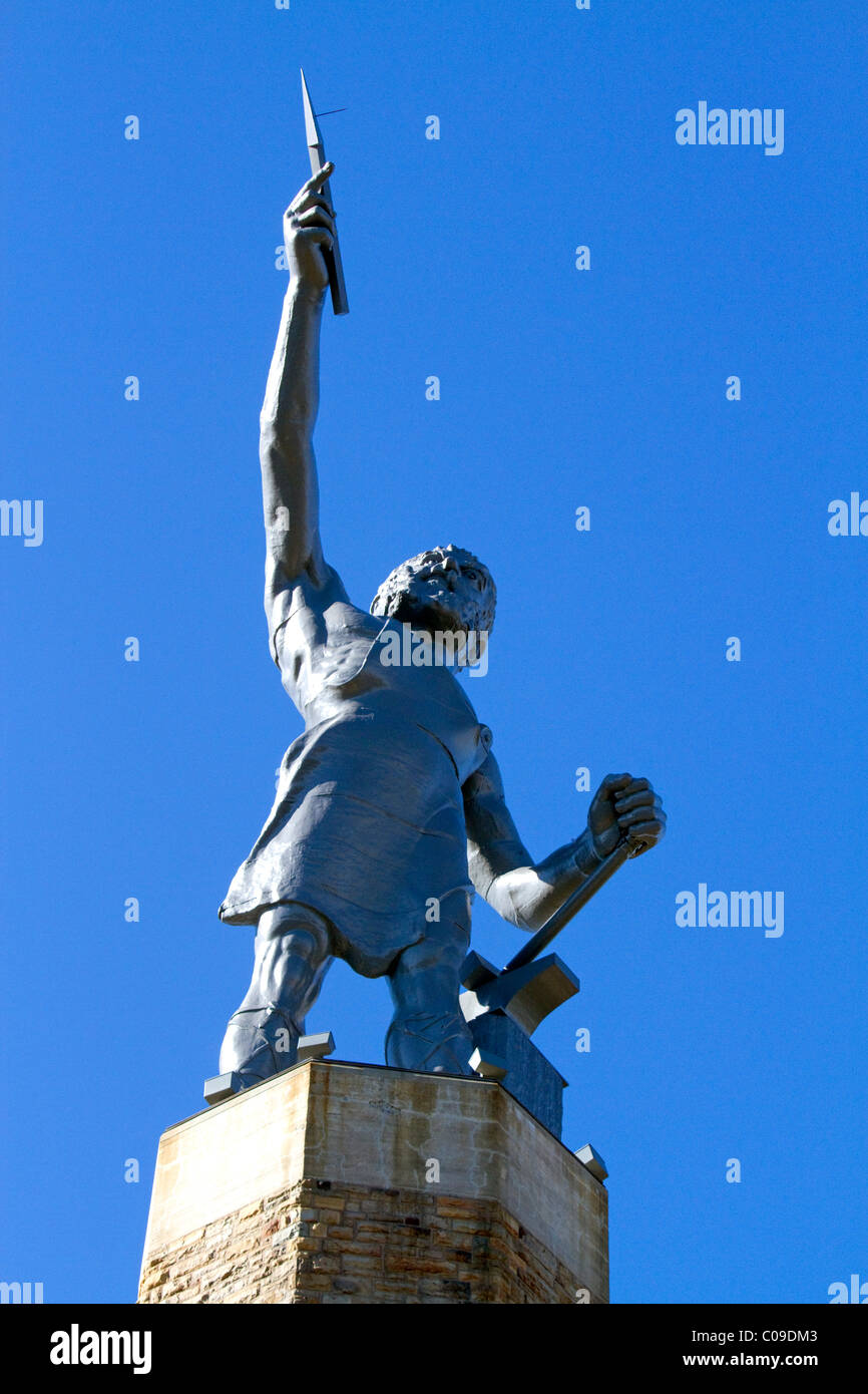 Vulcan Statue locted in Vulcan Park, Birmingham, Alabama, USA. Stock Photo