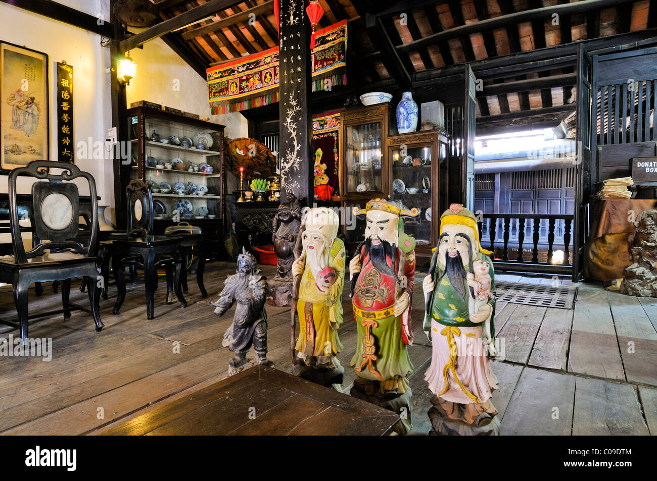 Chinese deities in the Phung Hung House, Hoi An, Vietnam, Southeast Asia - Stock Image