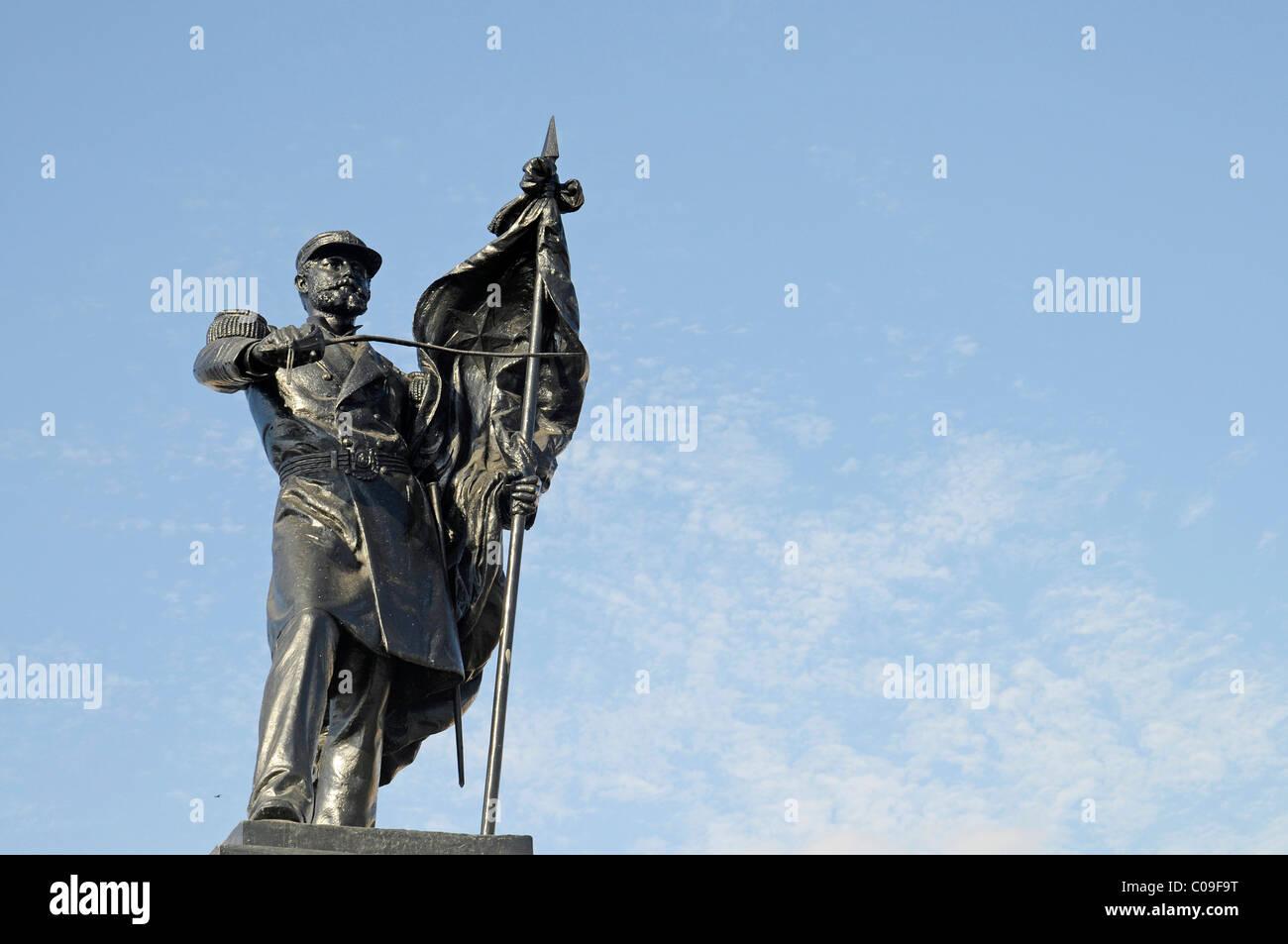 Monument to national war hero Captain Arturo Prat Chacon, Iquique, Norte Grande region, Northern Chile, Chile, South - Stock Image