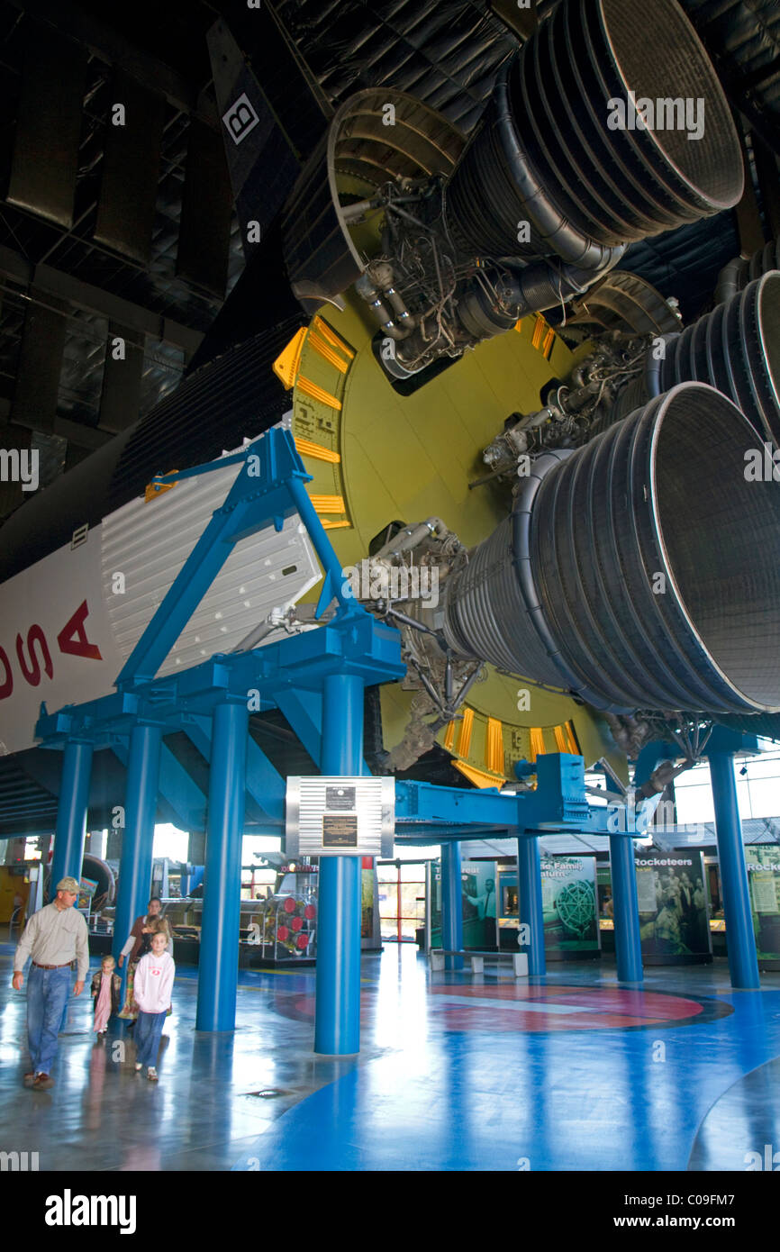 Saturn V at the Davidson Center for Space Exploration at the U.S. Space and Rocket Center located in Huntsville, - Stock Image