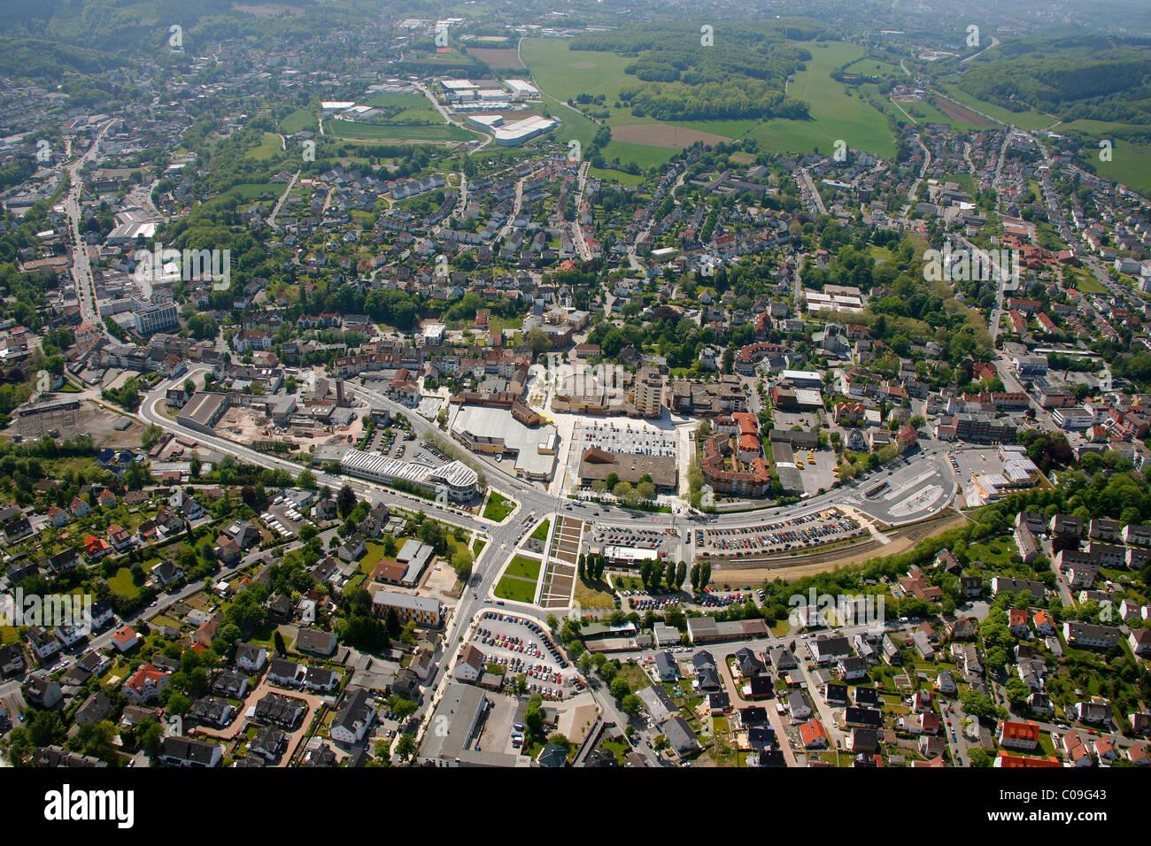 Aerial view, Landesgartenschau Country Garden Exhibition Hemer, Maerkischer Kreis district, Sauerland region - Stock Image