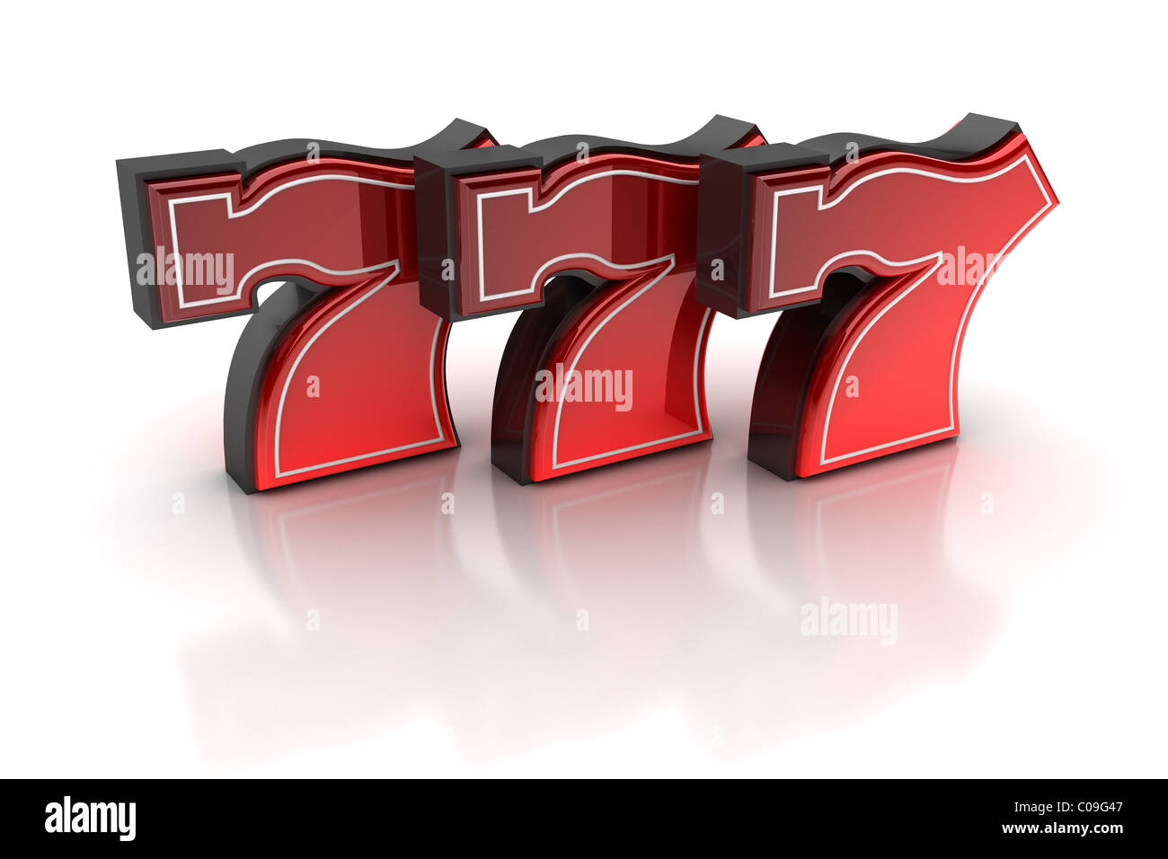 Lucky number seven - Stock Image