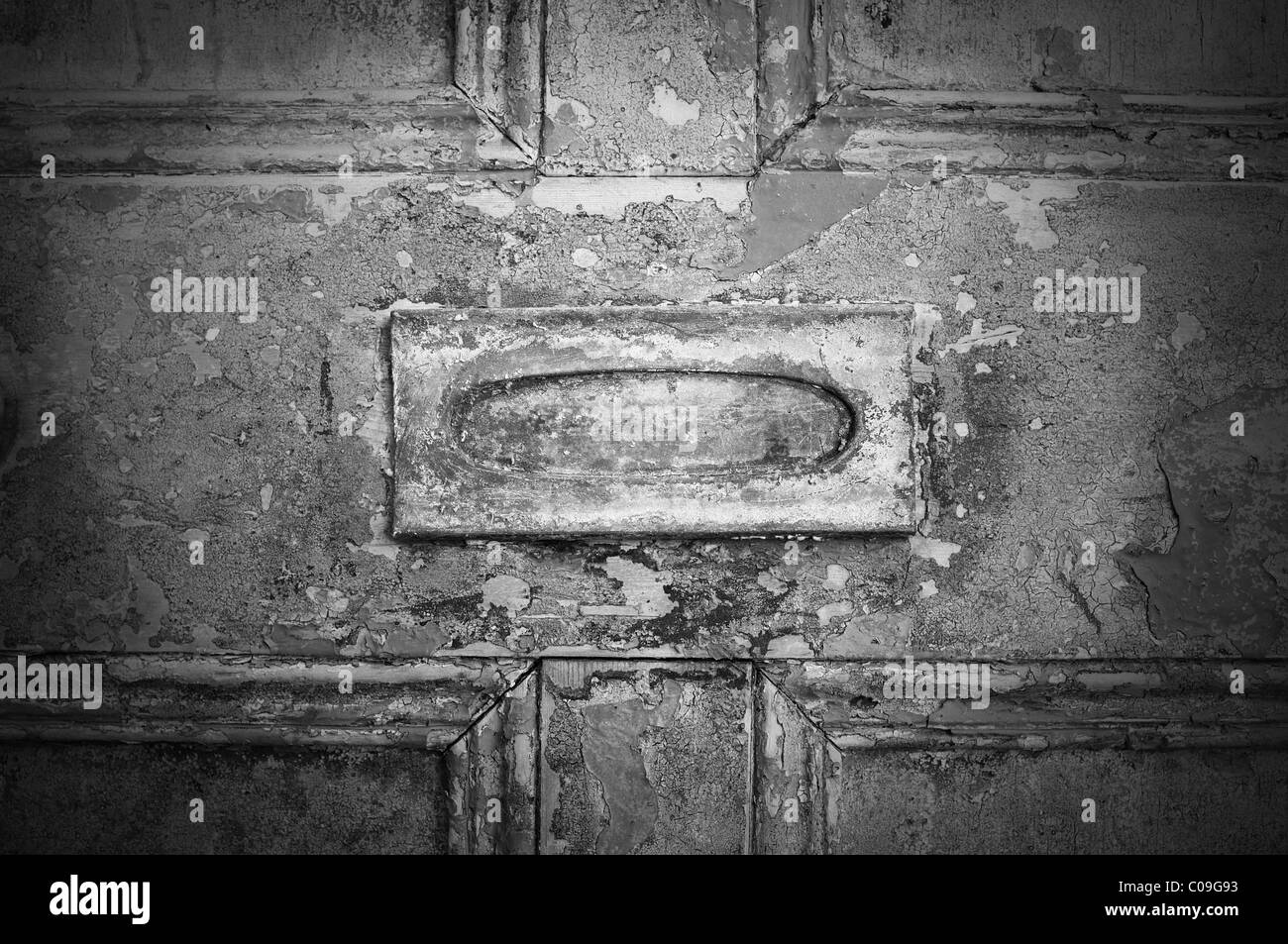 Old Letterbox - John Gollop - Stock Image