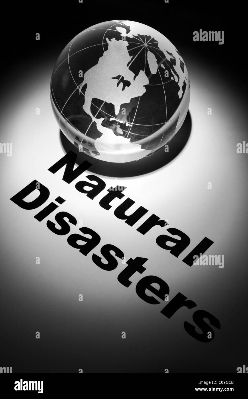 globe, concept of Global Natural Disasters - Stock Image